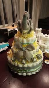 elephant diaper cake baby boy baby shower gift check out my