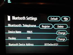 toyota prius questions there are no buttons to connect bluetooth