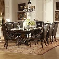 Dark Dining Room Amazon Com Homelegance Orleans 9 Piece Double Pedestal Dining