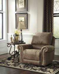 Swivel Recliner Chairs by Furniture Brown Rocking Walmart Recliner With Cube Ottoman On