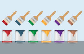 colorful paint and brush vectors download free vector art stock
