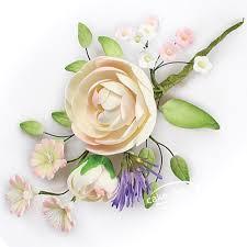 Ranunculus Flower Ranunculus Sugar Flower Spray Cake Links Ltd