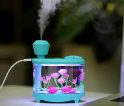 fish tank led light air humidifier mini usb essential oil aroma 460ml usb aromatherapy essential oil diffuser portable small fish tank cool mist aroma humidifier air purifier with 7 cloor led lights and timer for office