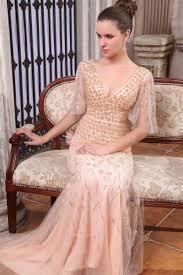 pink embroidered wedding dress blush pink floral embroidered v neck sleeve luxury