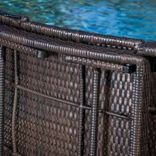 amazon com maureen outdoor multibrown pe wicker folding chaise