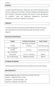 hr resume template manager resume objective exles hr manager resume sle