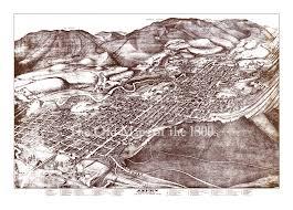 Map Of Aspen Colorado by Aspen Colorado In 1893 Bird U0027s Eye View Map Aerial Panorama