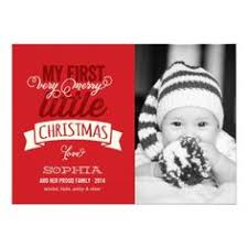 first christmas holiday baby announcement photo card printable 5x7