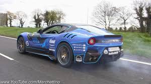 Ferrari F12 Drift - ferrari f12 tdf goes crazy launches u0026 burnouts youtube