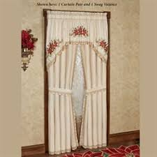 Snowflake Curtains Christmas Christmas Holiday Window Treatments Curtains Valances Touch Of Class