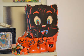 decorations black cat halloween crafts come with black cat and