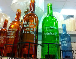 cheap home decor 6 wine bottles with cute sayings on them these