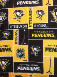 Home Decor Pittsburgh by Nhl Pittsburgh Penguins Yellow Patchwork Hockey 100 Fleece Fabric