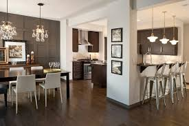 stained wood panels modern accent wall kitchen contemporary with dark stained wood