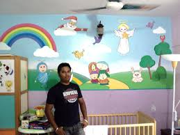 Cartoon Wall Painting In Bedroom Classroom Kids Cartoon Wall Painting Mumbai