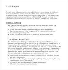 template for audit report free template sle of audit report with executive