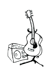 large guitar coloring page electric guitar coloring pages coloring pages crayola plus free