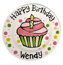 personalized birthday plate ceramic birthday plates cupcake cake personalized 1st