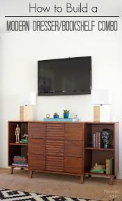 dresser with desk attached learn how to make this modern dresser with attached bookshelf diy