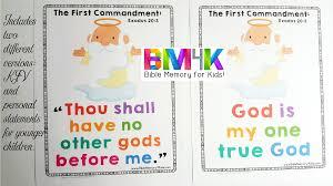 bible memory 4 kids the ten commandments