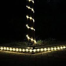 solar powered tube lights 23ft 50led solar power tube light strip waterproof outdoor