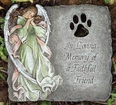 pet memorial garden stones memorial pet stones in loving memory of a faithful friend