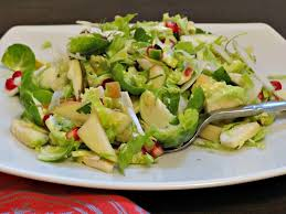 brussels sprout salad with fennel apple and pomegranate seeds