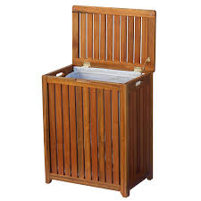 amazon com oceanstar solid wood spa laundry hamper home kitchen