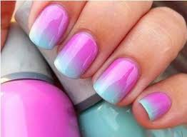 insane nails and tattoos ombre nail art with dual colors sponge