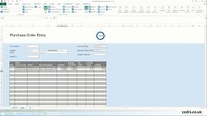 P L Spreadsheet Template Import Purchase Orders From Excel To Sage 200