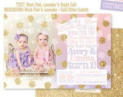 girls first birthday invitations photo card 1st birthday