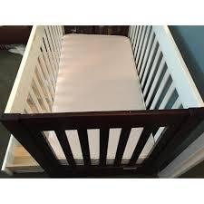 Babyletto Mercer 3 In 1 Convertible Crib With Toddler Rail by Babyletto 3 1 Mercer Brown White Crib U0026 Drawer Aptdeco