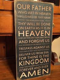 custom carved wooden sign lord u0027s prayer our father who art in