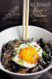 cuisine de doria chignons au sésame riz basmati et oeuf au plat la cuisine de