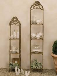 etagere in ferro gallery of amazing set scaffali ferro battuto marroni with