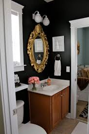 99 best bathroom images on pinterest bathroom ideas room and bathroom black walls gold framed mirror home decor