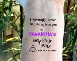 bachelorette tattoo etsy