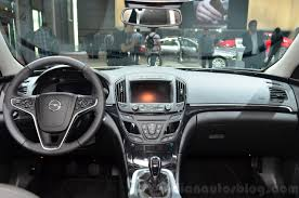 opel paris 2015 opel insignia 2 0 litre cdti interior at the 2014 paris motor