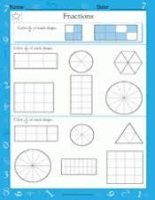 fractions of shapes 2 u20443 or 3 u20444 math practice worksheet grade