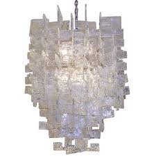 Large Glass Chandeliers Large Mazzega Chandelier Interlocking Glass C Shapes For Sale At