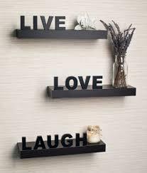 home sparkle live love laugh black wood shelves buy home sparkle