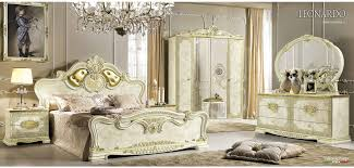 White Italian Bedroom Furniture Leonardo Italian Bedroom Set In White Finish