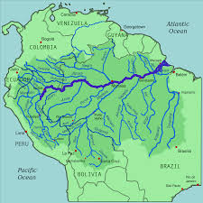Colombia On World Map by Amazon River On World Map Roundtripticket Me