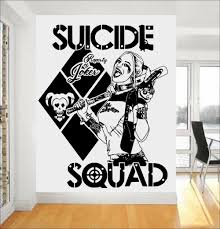 online get cheap cool design wall sticker aliexpress com task force x wall stickers quotes suicide squad harley quinn vinyl art mural home sweet cool