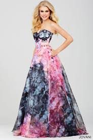statement floral strapless dress hacks for prom parties
