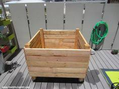 easy raised garden bed on casters for patio or deck decking
