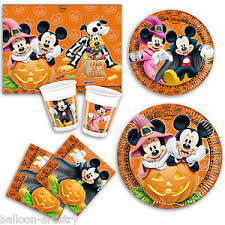 disney halloween mickey minnie mouse party plates napkins cups