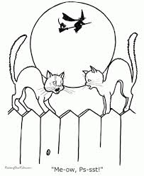 stylish black cat coloring page regarding encourage to color an