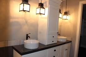 bathroom lighting ideas ceiling white washbowl in floating wooden
