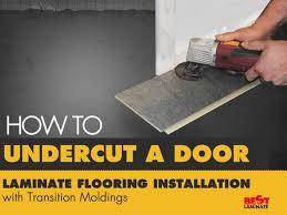 how to undercut a door laminate flooring installation with transiti